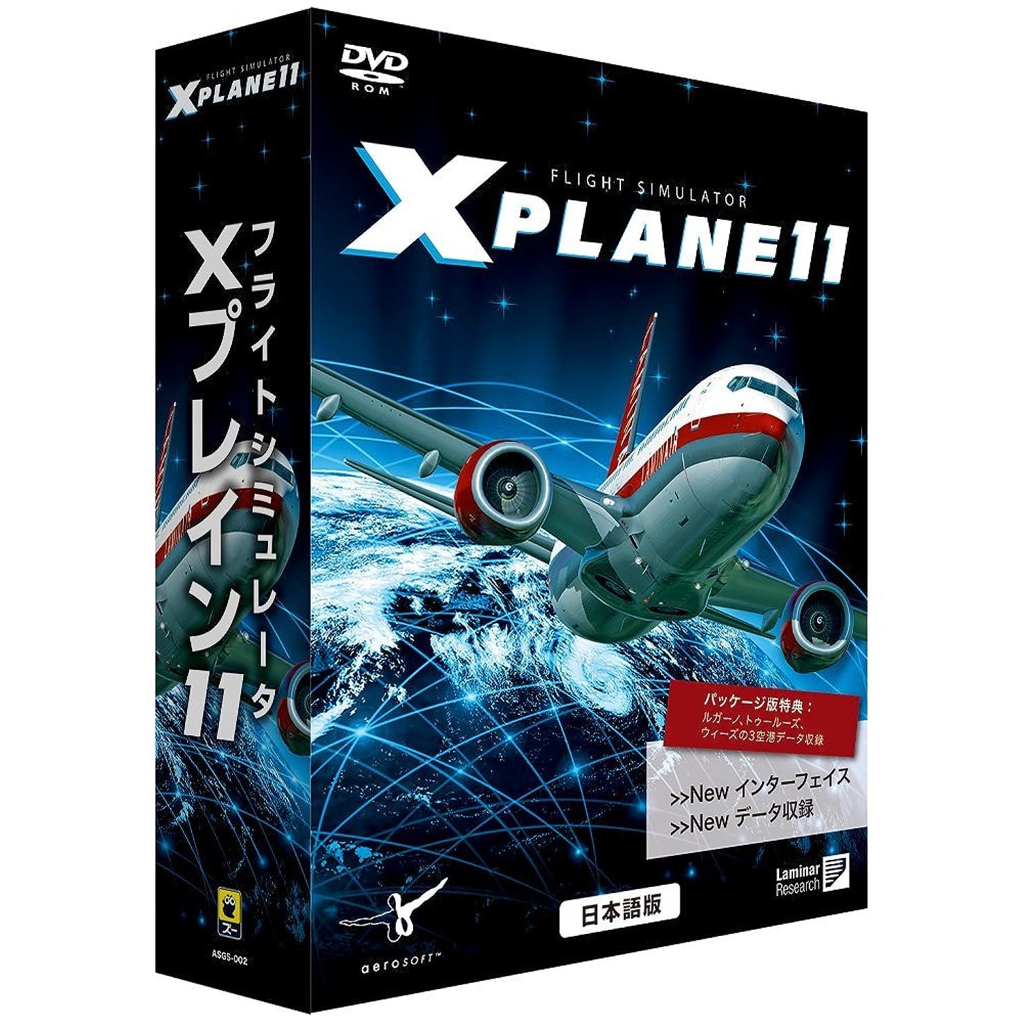 遠近法上へ分布ズー フライトシミュレータ Xプレイン11 日本語版