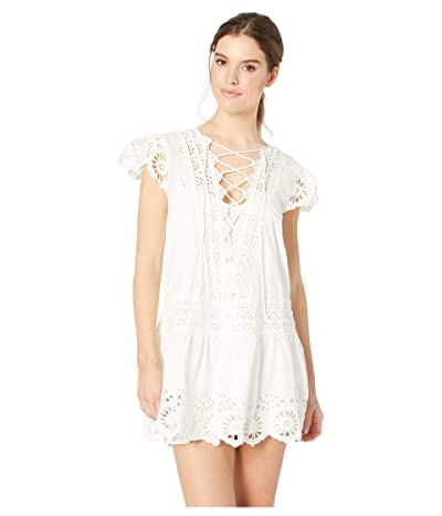 Free People Esperanza Eyelet Mini Dress (Ivory) Women