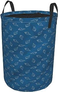 ZOMOY Grand Organiser Paniers pour Vêtements Stockage,Coquillages en Spirale,Panier à Linge en Tissu,Imperméable,Pliable,p...