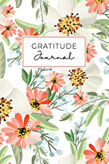 Gratitude Journal: Daily Gratitude Journal 52 Week Diary for a Happier You in One Minute a Day Coral Green Floral