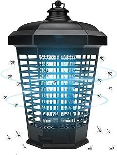 مصيدة البعوض الذباب والحشرات الطائرة الكهربائية من ايزي، بقدرة 4200 فولت مضادة للماء، تعمل بالكهرباء في الهواء الطلق والام...