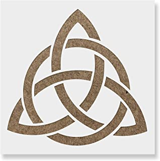 Celtic Triquetra Knot Stencil Template - Reusable Stencil with Multiple Sizes Available
