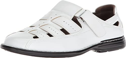 STACY ADAMS Hommes's Bridgeport Closed Toe Fisherman Sandal, blanc, 10.5 M US