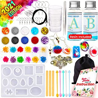 GoodyKing Resin Jewelry Making Starter Kit – Resin Kits for Beginners with Molds..