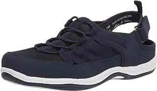 Easy Street Women's Athleisure Shoe Sneaker, Navy Leather, 6.5 Wide