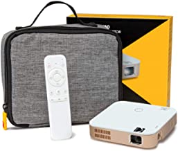 KODAK Luma 350 Portable Smart Projector | Powerful Ultra HD Rechargeable Video Projector Android 6.0 - Includes Soft Case