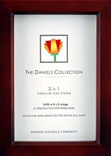 Dark-walnut stain 4x6 shadow box 1.25inch depth by Dennis Daniels® - 4x6