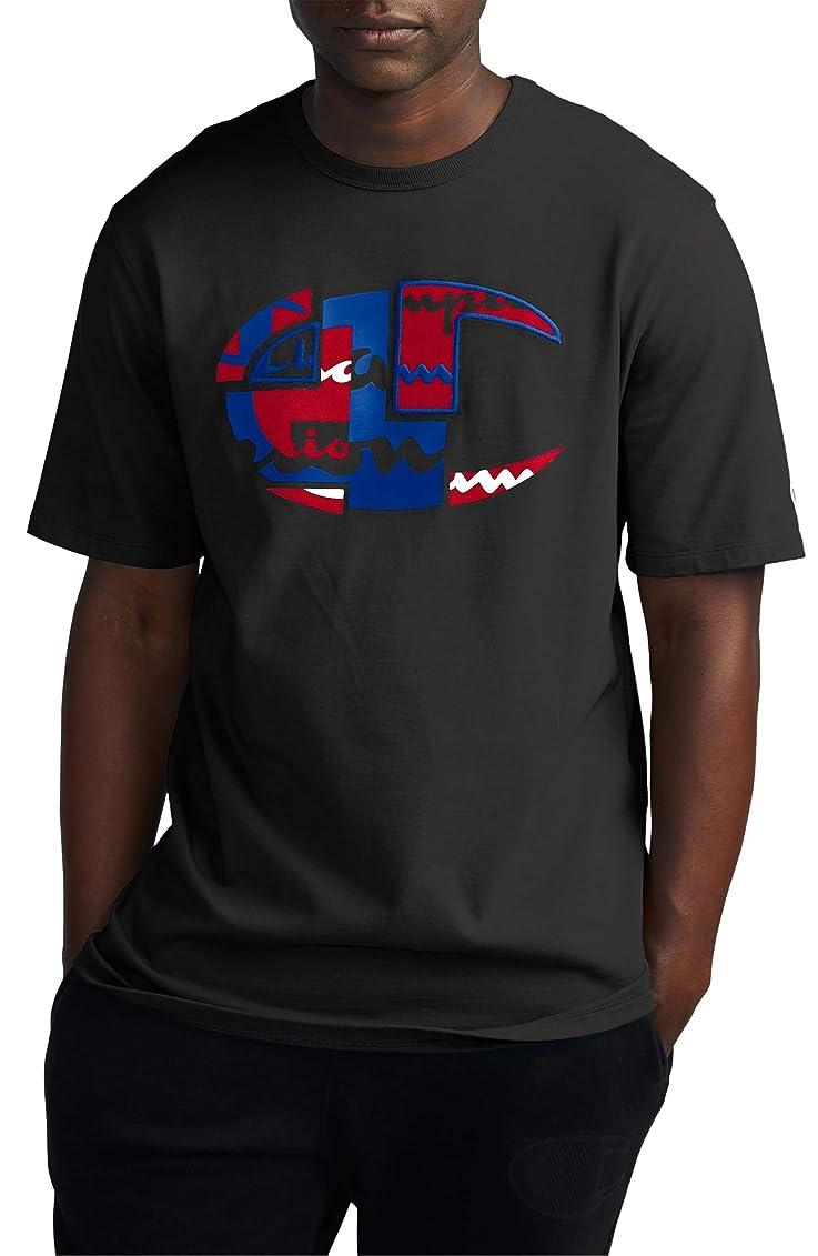 和解する疑わしいアルカイック[チャンピオン] メンズ Tシャツ Champion Patchwork Heritage Logo Graphic [並行輸入品]