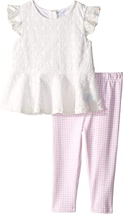 Eyelet Top & Gingham Leggings (Infant)