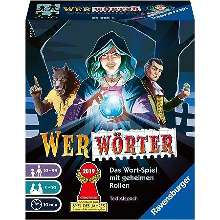 Ravensburger 26025 Wer Wörter - Spannendes Wort-Ratespiel für Erwachsene und Kinder ab 10 Jahren, Ideal für Spieleabende mit Freunden oder der Familie für 3-10 Spieler