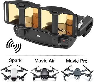Tmalltide Foldable Signal Booster,Air Spark Signal Booster DJI Mavic Pro/Mavic Air/Spark Controller Signal Booster Range Extender (Gold)