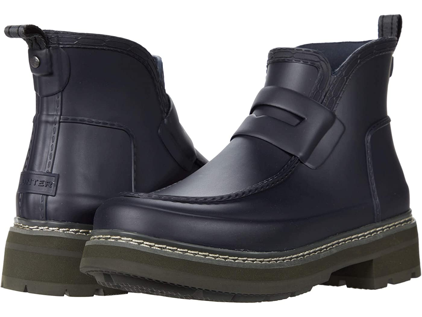 Hunter Refined Stitch Detail Loafer Boots