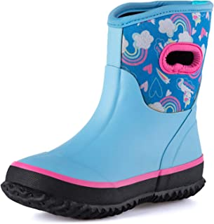 K KomForme Neoprene Warm Rain Boots Winter Snow Boots for Toddler and Little Kids