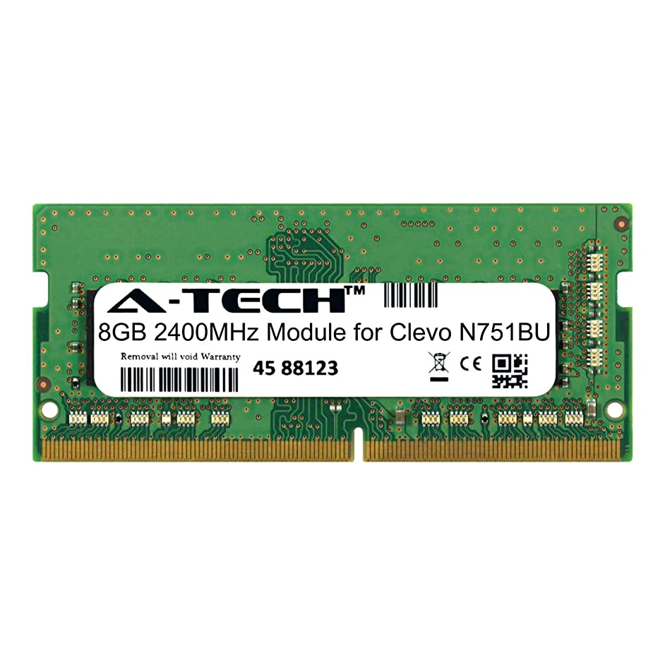 A-Tech 8GB Module for Clevo N751BU Laptop & Notebook Compatible DDR4 2400Mhz Memory Ram (ATMS390813A25827X1)