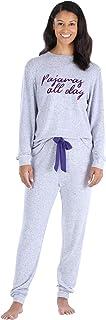 bSoft Women's Slouchy Lightweight Knit Pullover and Joggers Loungewear Pj Set