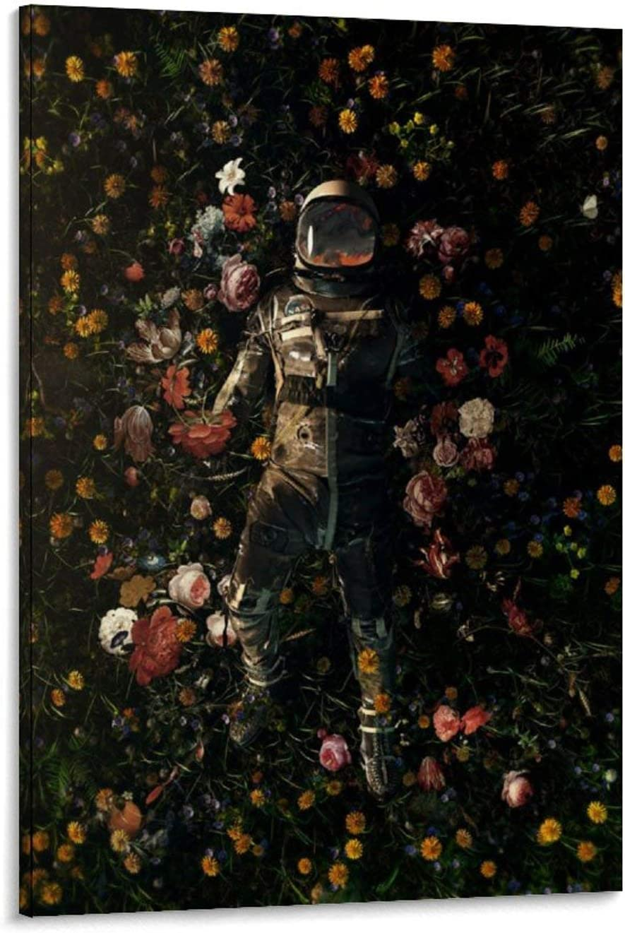 Very popular qiaoke Space Planet Universe Astronaut Delights Garden Canvas Ar Ranking TOP9