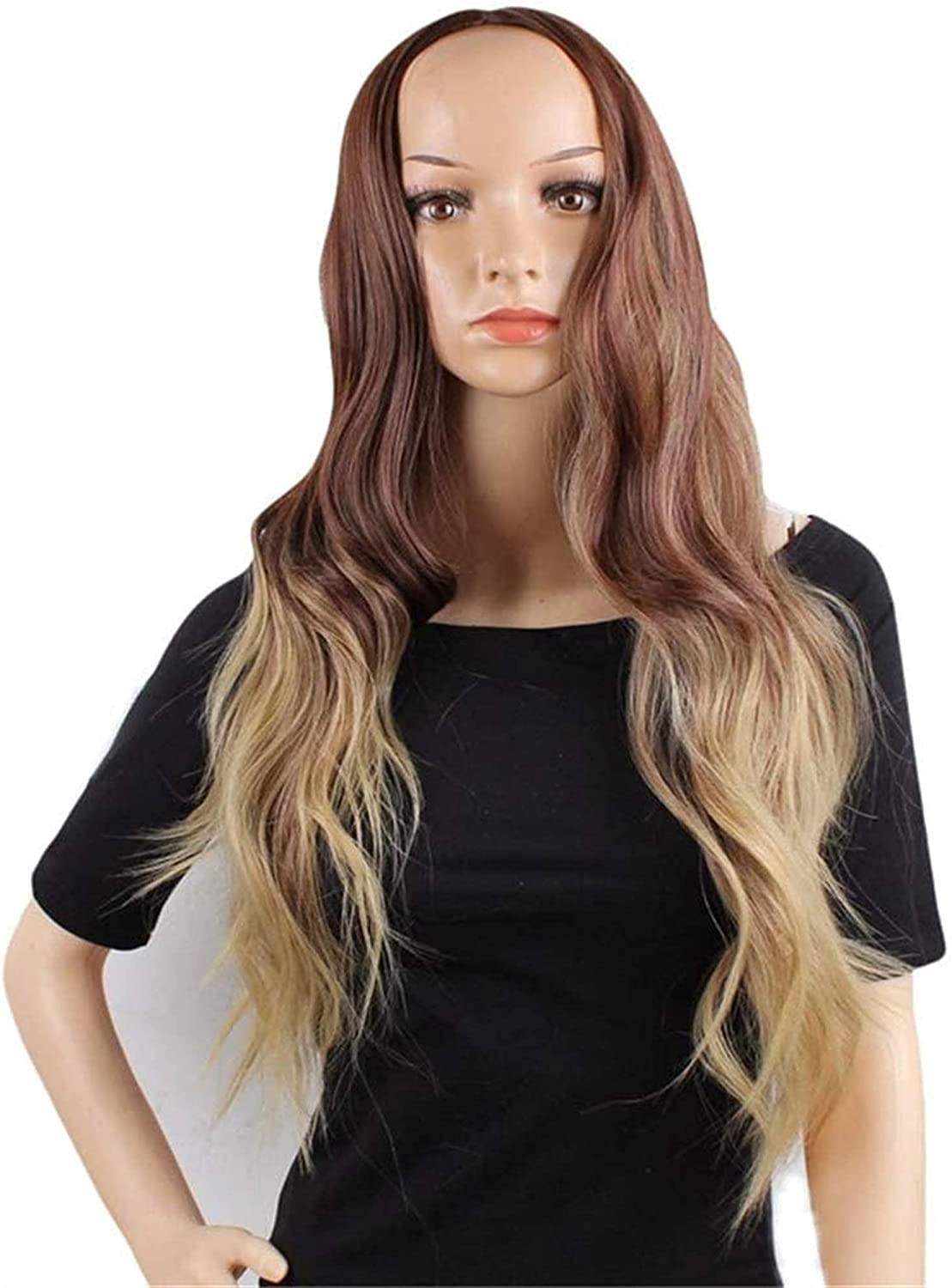 Finally resale start LCNING Wig Wigs Brown to Blonde Long M Curly Mesa Mall Wave Dark Roots