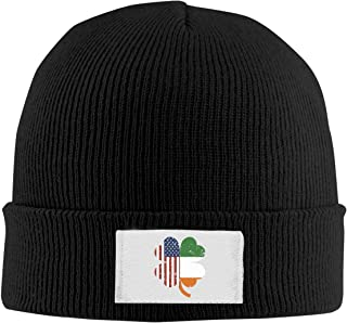 Red-Christ Unisex American and Ireland Flag in Irish Shamrock Fashion Warmth Four Colors Beanie Hats Skull Cap