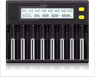 QWERTOUY batteriladdare LCD-display 1,5 A för Li-ion LiFePO4 Ni-MH Ni-Cd AA 21700 20700 26650 18350 17670 RCR123 18700
