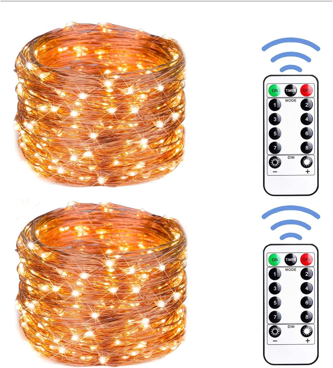 12APM 66ft 200 LED Popularity 2021 new Fairy String USB Lights with Powered Remote