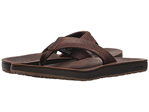 Mens Leather Contoured Cushion Sandal Reef sAZCB