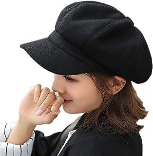 Elonglin Women Berets Newsboy Hat Artist Hats Autumn-Winter Visors Imitation Woolen British Style Fashion Vintage Elegant ...