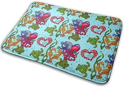 Sea of Love Carpet Non-Slip Welcome Front Doormat Entryway Carpet Washable Outdoor Indoor Mat Room Rug 15.7 X 23.6 inch