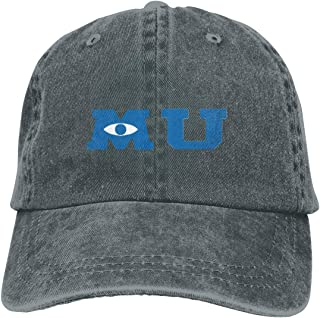 Monsters University Merchandise Denim Cap Casquettes Baseball Cowboy Hat Black