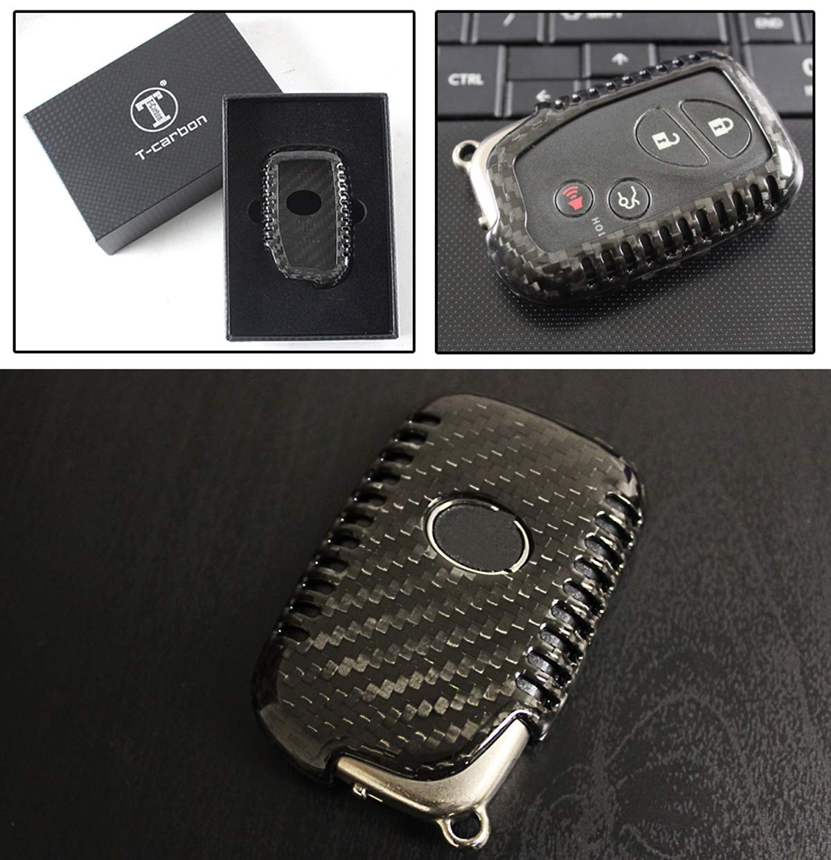 Luxury RED Edition Carbon Fiber Key Protective CASE Cover for Mercedes-Benz KEYLESS Entry Smart FOB