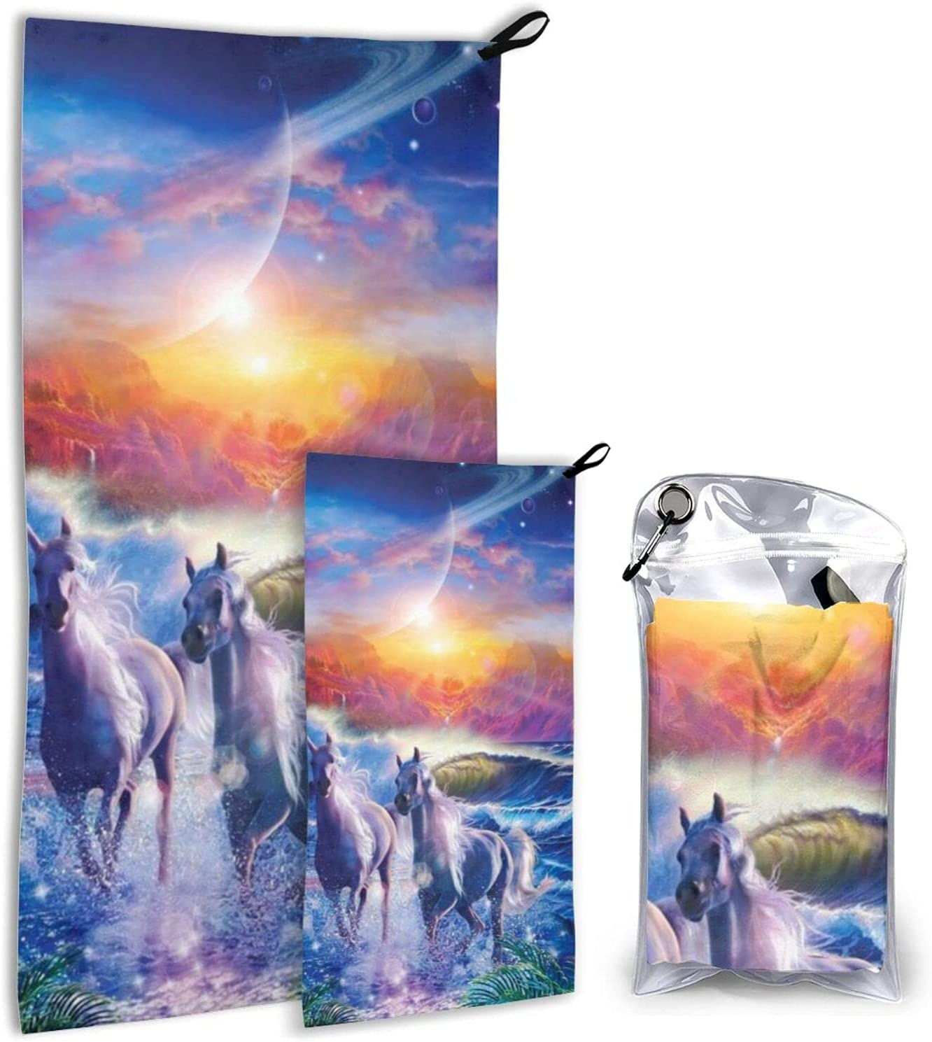 Sales for sale BTMGJKEY Animal Pattern Horse sea Sky of Beach Towel Brea free 2 Set