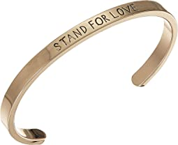 """Stand For Love"" Open Bangle"