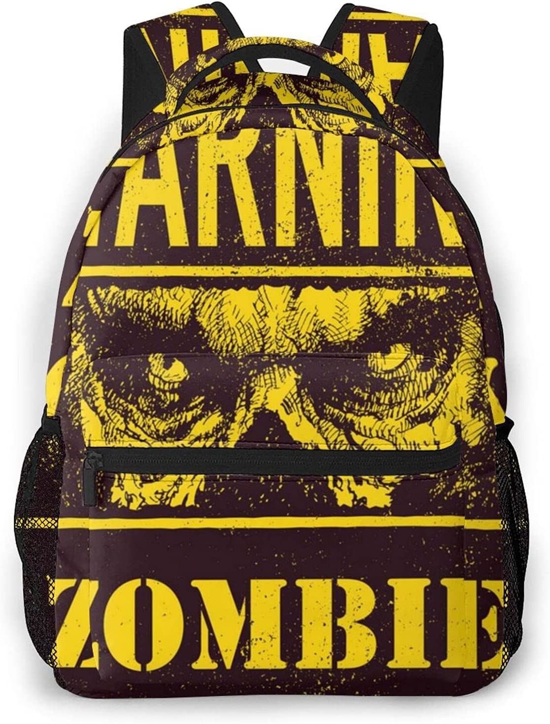 Poster Zombie Outbreak Travel Attention brand Some reservation Daypack Laptop Ba Student Rucksack
