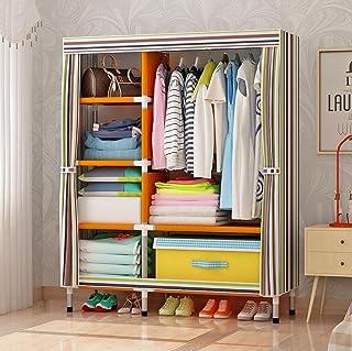 LyMei Armoire de Rangement, Armoire en Tissu Portable Armoire Rangement Chambre Oxford Tissu Placard Organisateur De Stock...