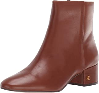 Lauren Ralph Lauren Women's Welford Ankle Boot, Deep Saddle Tan, 5 B US