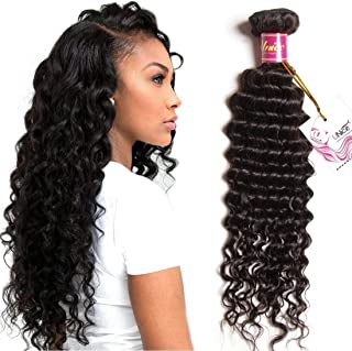UNice Hair Icenu Series 8a Brazilian Virgin Hair Deep Wave Bundle Weave Unprocessed Human Hair Extension 1Piece Natural Color (20'')