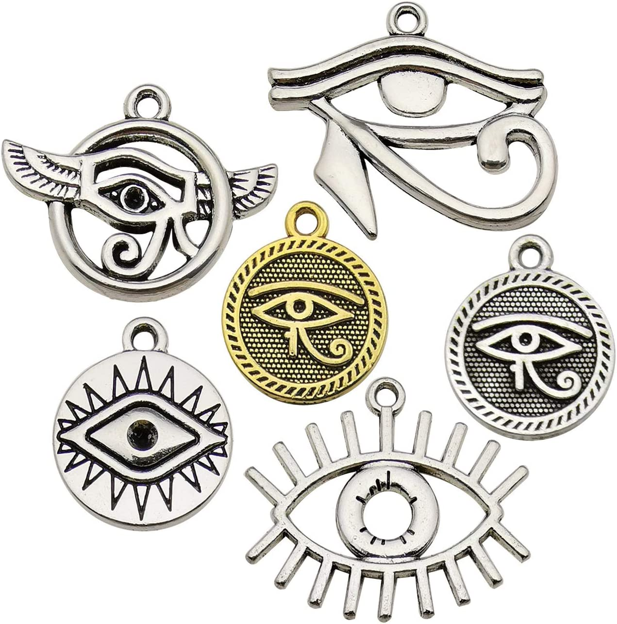 WOCRAFT 100g Sale SALE% OFF Popular brand in the world 42pcs Wholesale Bulk Lots Eye for Horus of Charms