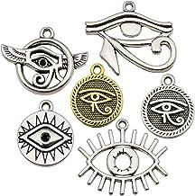 10pcs Egypt Eye Of Horus Egyptian Charms Pendants for Bracelet Jewelry Making
