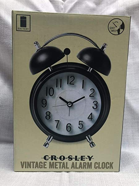 Crosley Vintage Metal Alarm Clock