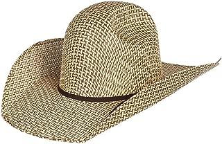 RODEO KING Mens Bamboo Open Crown 4 1/2 Brim Natural Straw Cowboy Hat