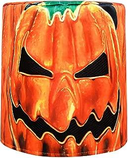 DJ Pumpkin Mask, Music Festival Helmets, Full Head Masks Halloween Party Props Costume Cosplay Twinkling Light Masks