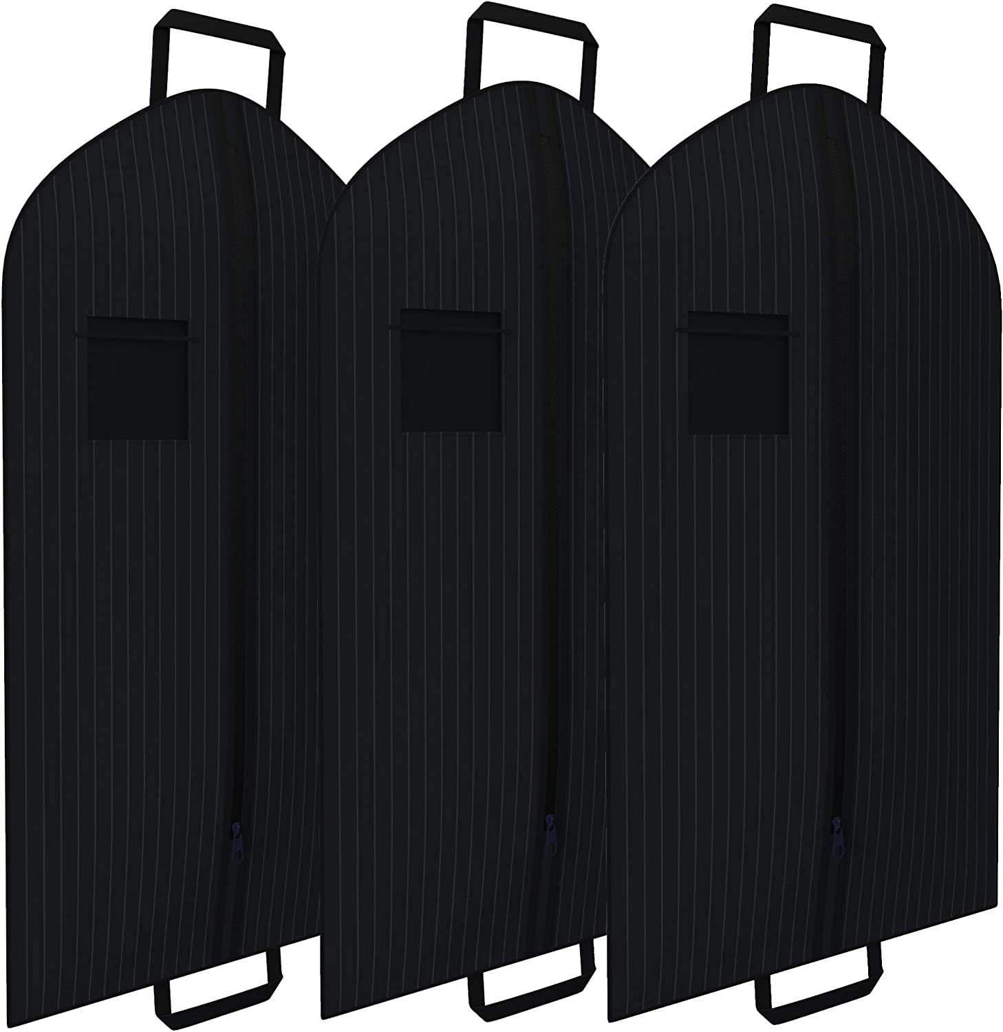 Black Pinstriped Suit Garment Travel Bags Daily bargain sale 3 cheap With ID Win Tag Pack