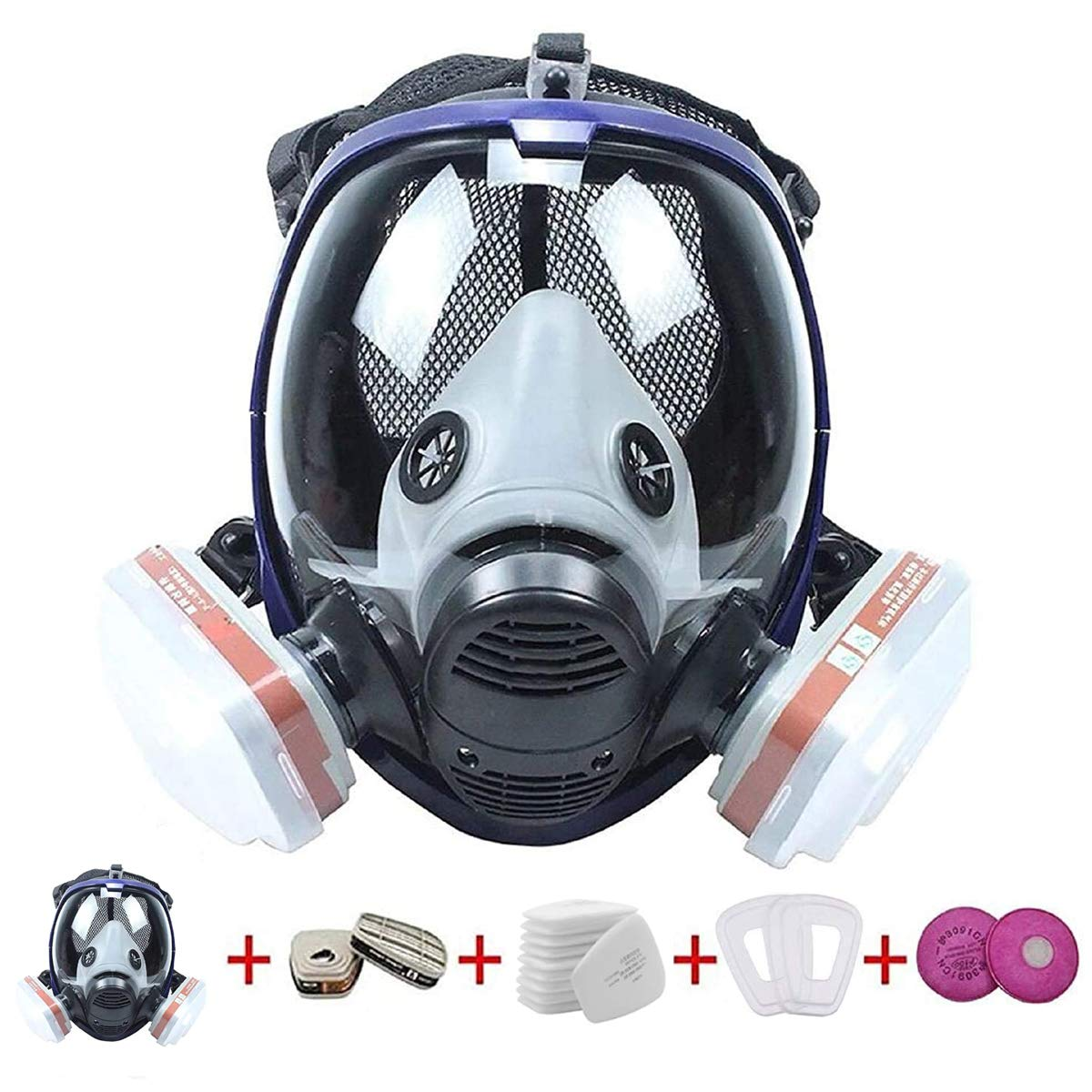 17 in 1 Full 100% quality sale warranty Face Respi Respirator Large Reusable Size