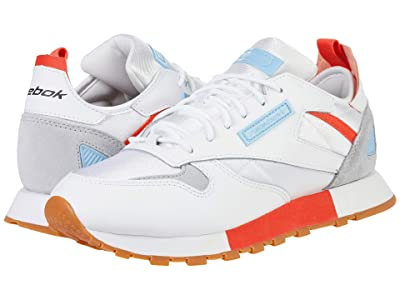 Reebok Lifestyle Classic Leather Ree:Dux (White/Vivid Orange/Fluid Blue) Women