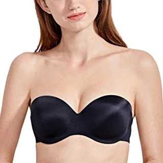 b72b82a85c DELIMIRA Women s Lightly Lined Underwire Lift Support Seamless Multiway Strapless  Bra