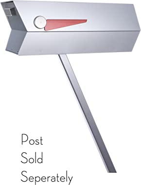 modbox USA Mid-Century Modern Curbside Mailbox | One Color (Silver (Anodized Aluminum Effect))