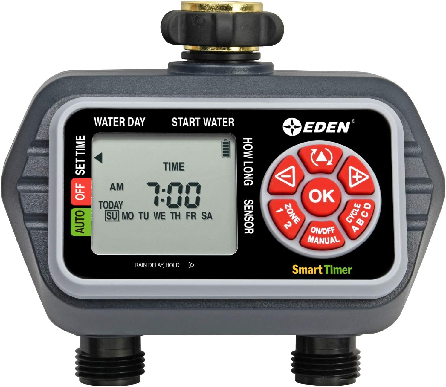 Eden 25412 Programmable Digital Water 2 Timer Long-awaited Max 72% OFF Zone Compatible
