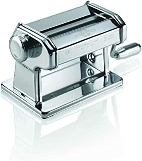 Marcato 8340 Atlas Pasta Dough Roller, Made in Italy, Includes 150-Millimeter Roller with Hand Crank and Instructions, Silver