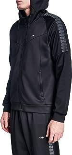 Lescon 19B-1056 Siyah Erkek Koşu Fermuarlı Kapüşonlu Sweatshirt Sweatshirt Erkek