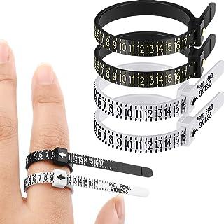 TALITARE US/UK Ring Sizer Set Black Jewelry Measurement Tools Plastic Finger Sizer Ring Gauge Measuring Tool Belt for Wome...