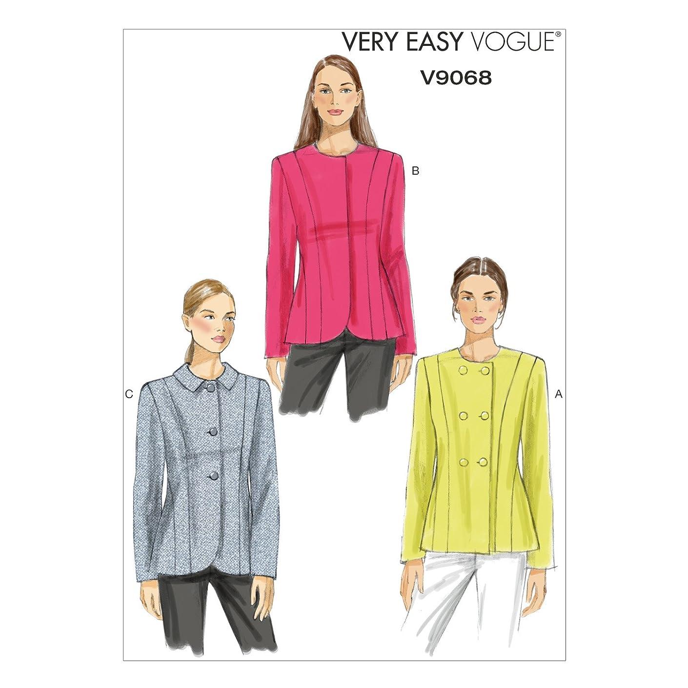 Vogue Patterns V9068 Misses' Jacket Sewing Template, B5 (8-10-12-14-16)